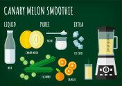 Canary Melon Smoothie Recipe