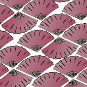 Japanese style pink hand fans vector background