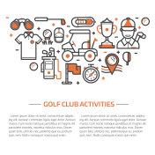 Golf Club Banner or Header Template