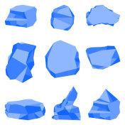 stones blue color set