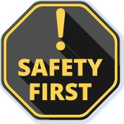 Safety First Sign illustration