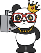 Cartoon Hip Hop Panda Vector Illustration