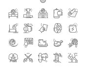 Sport Well-crafted Pixel Perfect Vector Thin Line Icons 30 2x Grid for Web Graphics and Apps. Simple Minimal Pictogram
