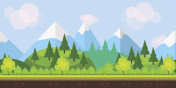 Flat style game background