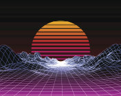 Abstract 80s Style Retro Background