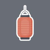 Lantern vector flat icon