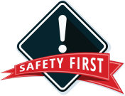 Safety First Sign illustration