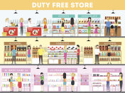 Duty free interior set.