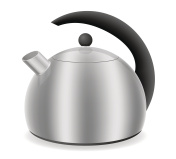 kettle for gas cooker vector illustration