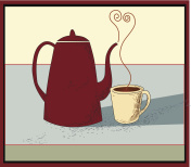 coffee pot with a cup