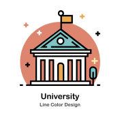 University Line Color Icon