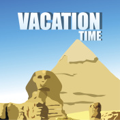 vacation time, trip to pyramid egypt