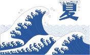 Illustration of japanese-style wave