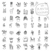 Potted Plants doodles drawing