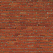 Brick wall, red relief texture with shadow