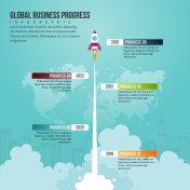 Global Business Progress Infographic