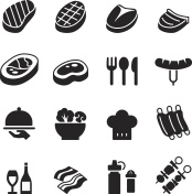 Basic Steak icons set