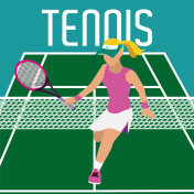 Tennis player on field