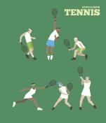Tennis figure peoples