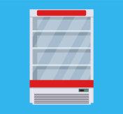 Modern commercial fridge