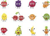 cartoon fruits characters