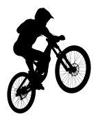 jump athlete rider mtb