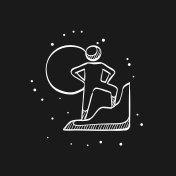 Sketch icon in black - Rock climbing