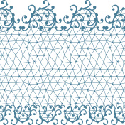 Seamless lace pattern with floral ornaments