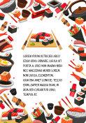 Japan food, seafood sushi banner template design
