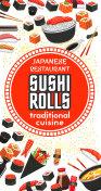 Vector poster of Japanese sushi cuisine restaurant