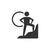 BW Icons - Rock climbing
