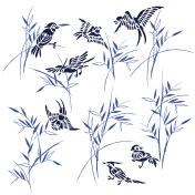Bamboo bird illustration