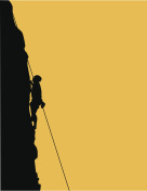 silhouette of rock climber includes hi-res jpg