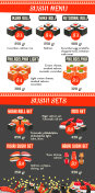 Vector Japanese cuisine Asian food menu template