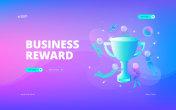 Business reward web banner