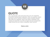 Material design style background and quote rectangle with sample text information vector illustration template