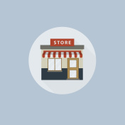 Store icon In Flat Style