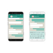 Smartphone bubbles app
