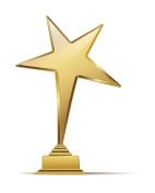 golden arts award. vector illustration