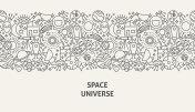 Space Universe Banner Concept