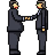 vector pixel art isolated cartoon