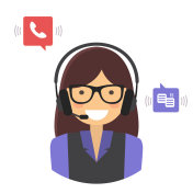 Customer support service concept