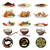 Food dishes set
