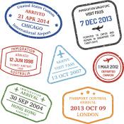 travel visa stamps