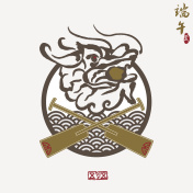 Vector: East Asia dragon boat festival,