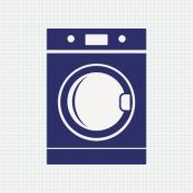 Washing machine. House appliance icon