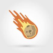 Flame meteorite