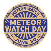 Meteor Watch Day stamp