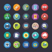 Network and Communication Flat Icons Set