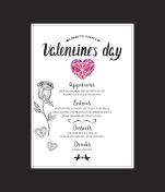 Menu template Valentine Day dinner.